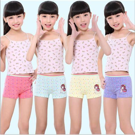 10 pcs small girls underwear cotton dot girls preteen fashion girls underwear cotton panties for girl high