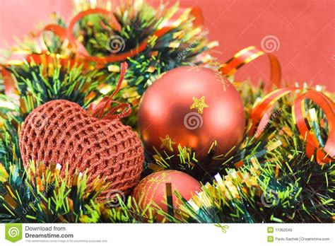 different christmas decorations royalty free stock images