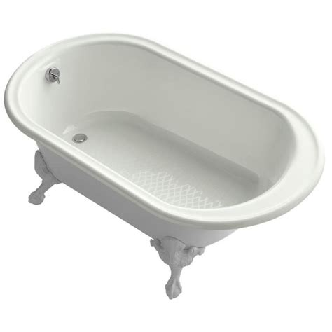 kohler freestanding bathtub shop kohler iron works historic 66 in dune cast iron freestanding bathtub with