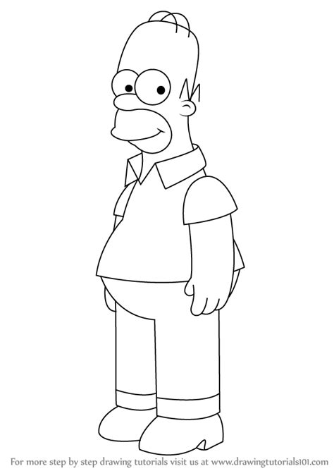 How To Draw The Simpsons On The by Learn How To Draw Homer From The Simpsons The