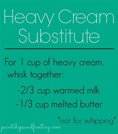 tattoo cream substitute heavy cream substitute good to know my family is always