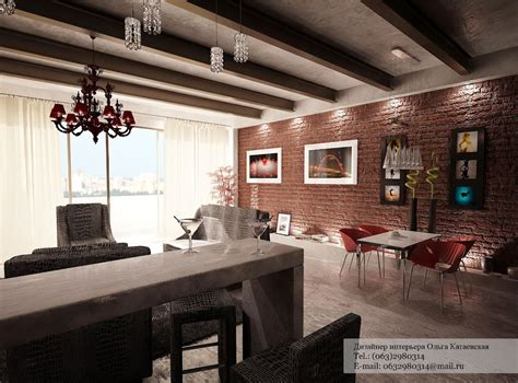 interior design red walls red exposed brick wall interior design ideas