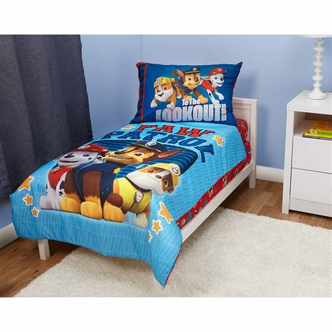bedding amazon paw patrol here to help 4 piece toddler bedding set