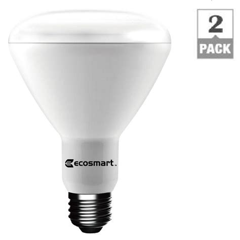 home depot ecosmart led lights ecosmart 75w equivalent daylight br30 dimmable led light