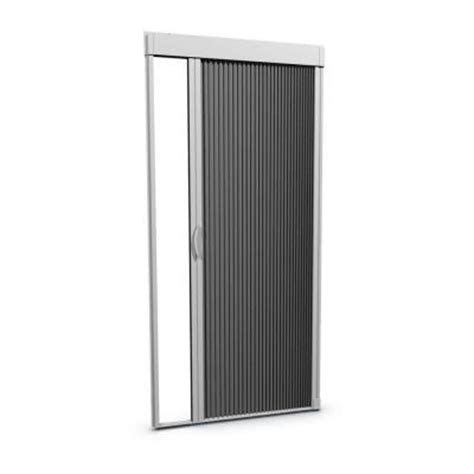 retractable screens for doors home depot euroscreen 36 in x 80 in white retractable mosquito