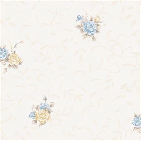 jual wallpaper dinding eropa modern bunga warna soft biru