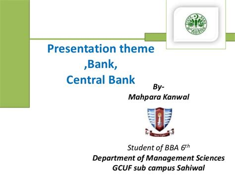 sub themes definition central bank or state bank of pakistan