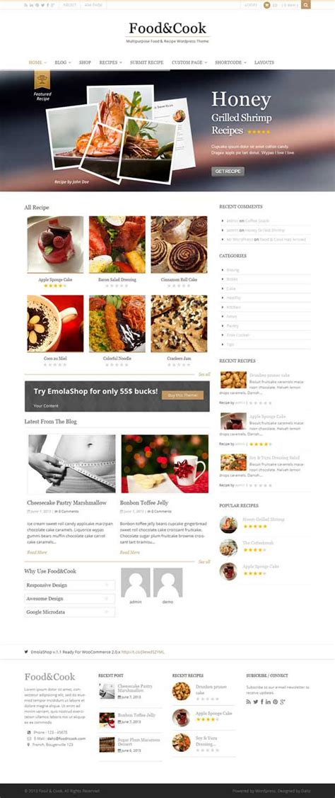 themes wordpress recipes 5 spectacular responsive cooking recipe wordpress themes