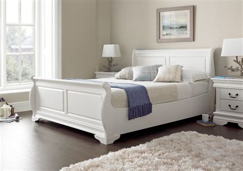 the louie white sleigh bed is the perfect addition to any