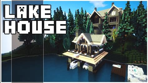 minecraft lake house minecraft lake house youtube