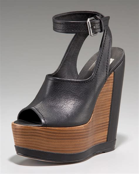 black platform sandals with ankle dolce vita ankle wrap wedge platform sandal in black lyst