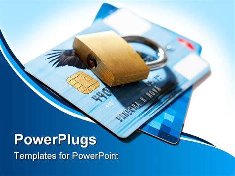Credit Card Powerpoint Template by Secure Of Credit Card On White Background Powerpoint