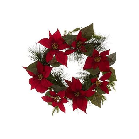 poinsettia wreath outdoor decorations asda direct
