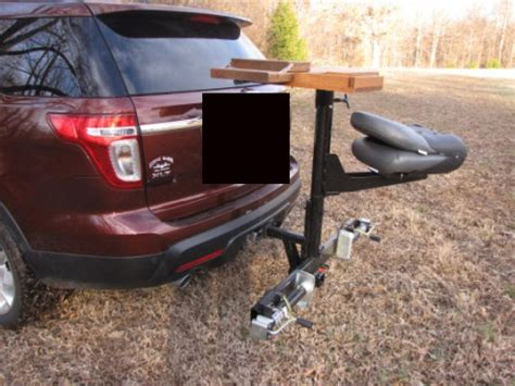 hitch mounted shooting bench self made trailer hitch shooting bench the firearm