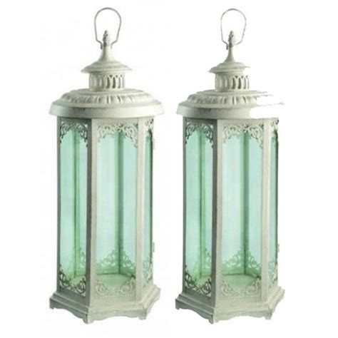 Garden Candle Lanterns Elinor Candle Lanterns Set Of Two By Garden Selections