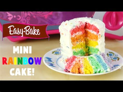 how to make an easy bake oven mini rainbow cake and it s my birthday youtube