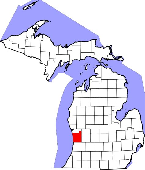 Ottawa County Records File Map Of Michigan Highlighting Ottawa County Svg Wikimedia Commons