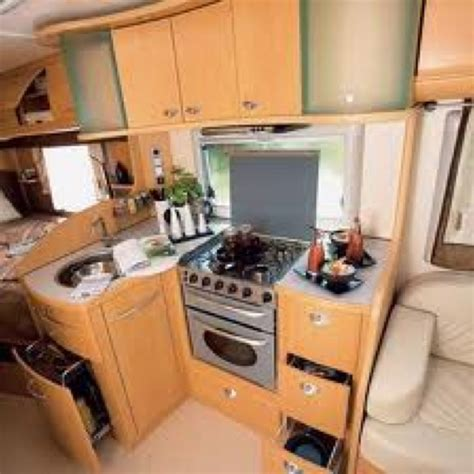 Cer Trailer Kitchen Designs Interior Of A European Rv This Stove Is But The Sink Is Small To C