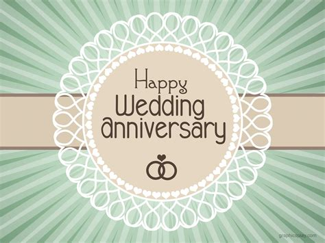 Wedding Anniversary by Happy Wedding Anniversary Simple Greeting Graphicsplay