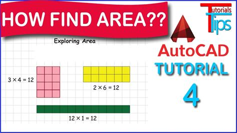 autocad tutorial hindi how to find area in autocad area list command use in