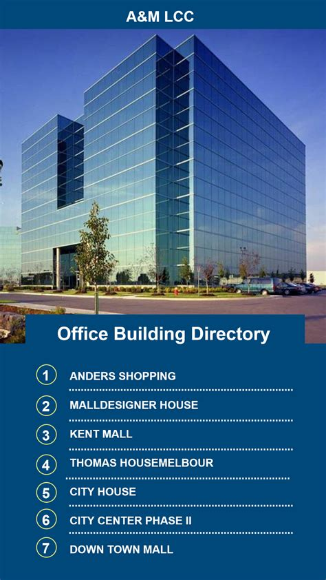 building directory template choice image templates