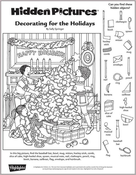 printable holiday hidden pictures 134 best images about hidden pictures on pinterest