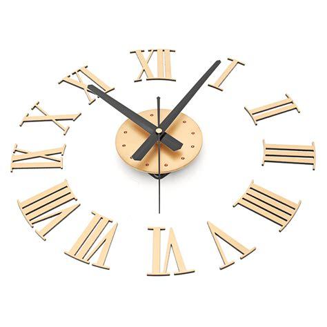 Diy Gaint Wall Clock 30 60cm Diameter Elet00664 Jam Dinding Other Clocks Diy Large Wall Clock Mirror Surface Sticker Modern Style Home Decoration Design