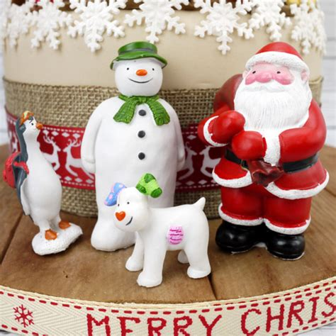 the snowman and friends luxury cake decoration set