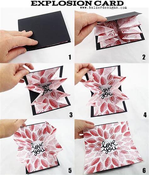 valentine explosion box tutorial valentine s day explosion card balzer designs buckets