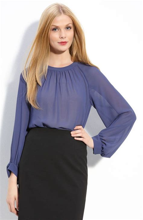 Blouse Owl Blue 1 17 best images about work shirts on