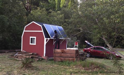 Solar Panels For Cabin by Solar Panels On Grid Cabin Growth Serenity