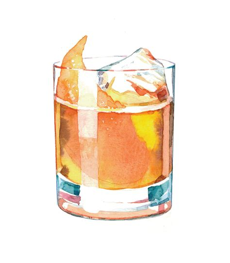 Fashioned Cocktail Drawing Imgkid Com The