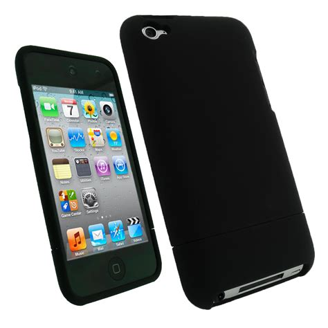 4g 32gb igadgitz black rubber coated cover for apple