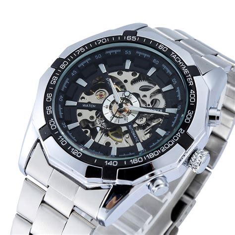 winner automatic watches branded mens classic stainless