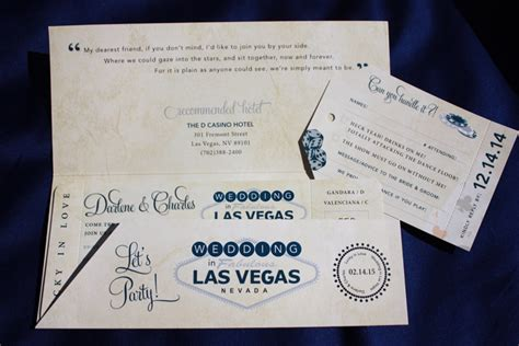 Vegas Themed Wedding Invitations by Custom Wedding Invitations Las Vegas Wedding Invitation