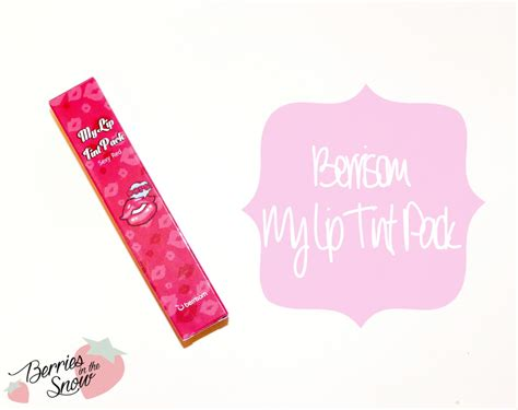 berrisom lip tattoo review indonesia review berrisom my lip tint pack berries in the snow
