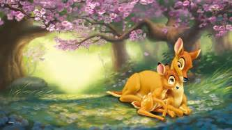 bambi with mother wallpaper