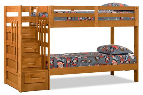 Childrens Bunk Beds With Stairs Uk Ponderosa Staircase Bunk Bed The Brick