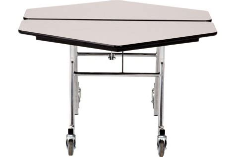 fold up cafeteria tables nps mobile folding hexagon cafeteria tables cafeteria tables