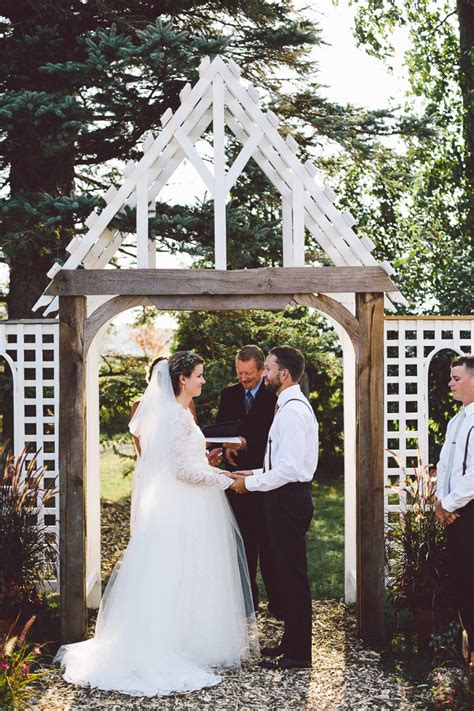 intimate backyard wedding melodie and tim s intimate backyard wedding in ontario