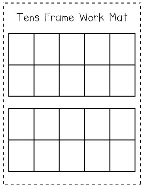 Ten Frame Worksheet by Ten Frame Worksheets Kindergarten Kindergarten At