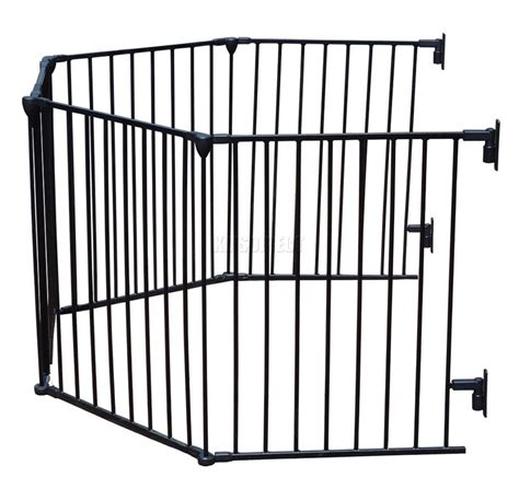 baby room divider 5 panel baby child hearth gate room divider safety guard metal play pen black ebay