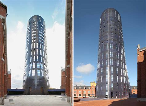 designboom jean nouvel jean nouvel extends charleroi police headquarters with 75
