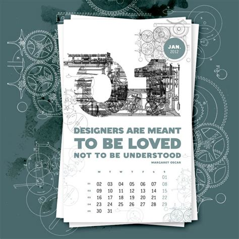 design inspiration calendar 57 creative 2012 calendar designs for your inspiration