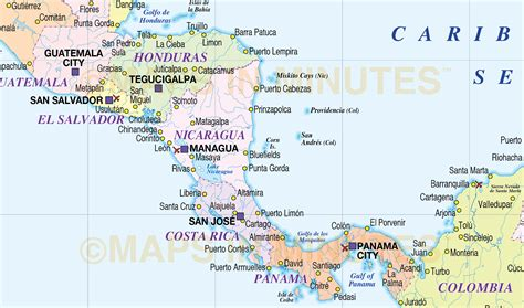 america map pdf large digital vector map of central america and the