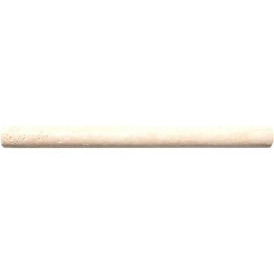 chiaro 3 4 in x 12 in travertine pencil molding wall tile