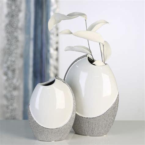 Deko In Vase by Casablanca Deko Vase Quot Prime Quot 19 Cm Weiss Silber