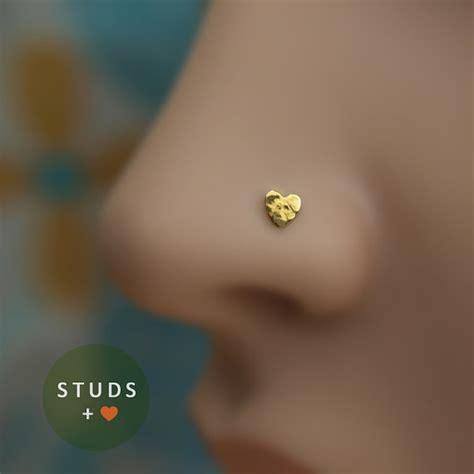 nose stud 4mm 24k gold plated sterling