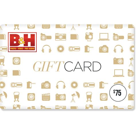 B H Gift Cards - b h photo video 75 gift card b h photo video