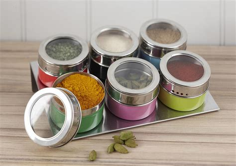 Magnetic Spice Jars Magnetic Multicoloured Spice Jars Contemporary By Not
